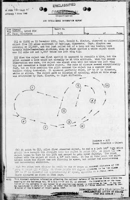 Astronaut Deke Slayton UFO Sighting Report (2 of 3)12-19-1951