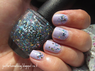 reverse Glitter gradient with Gade - 381 Lilac Melody Glitter - Wow Cosmetics 376