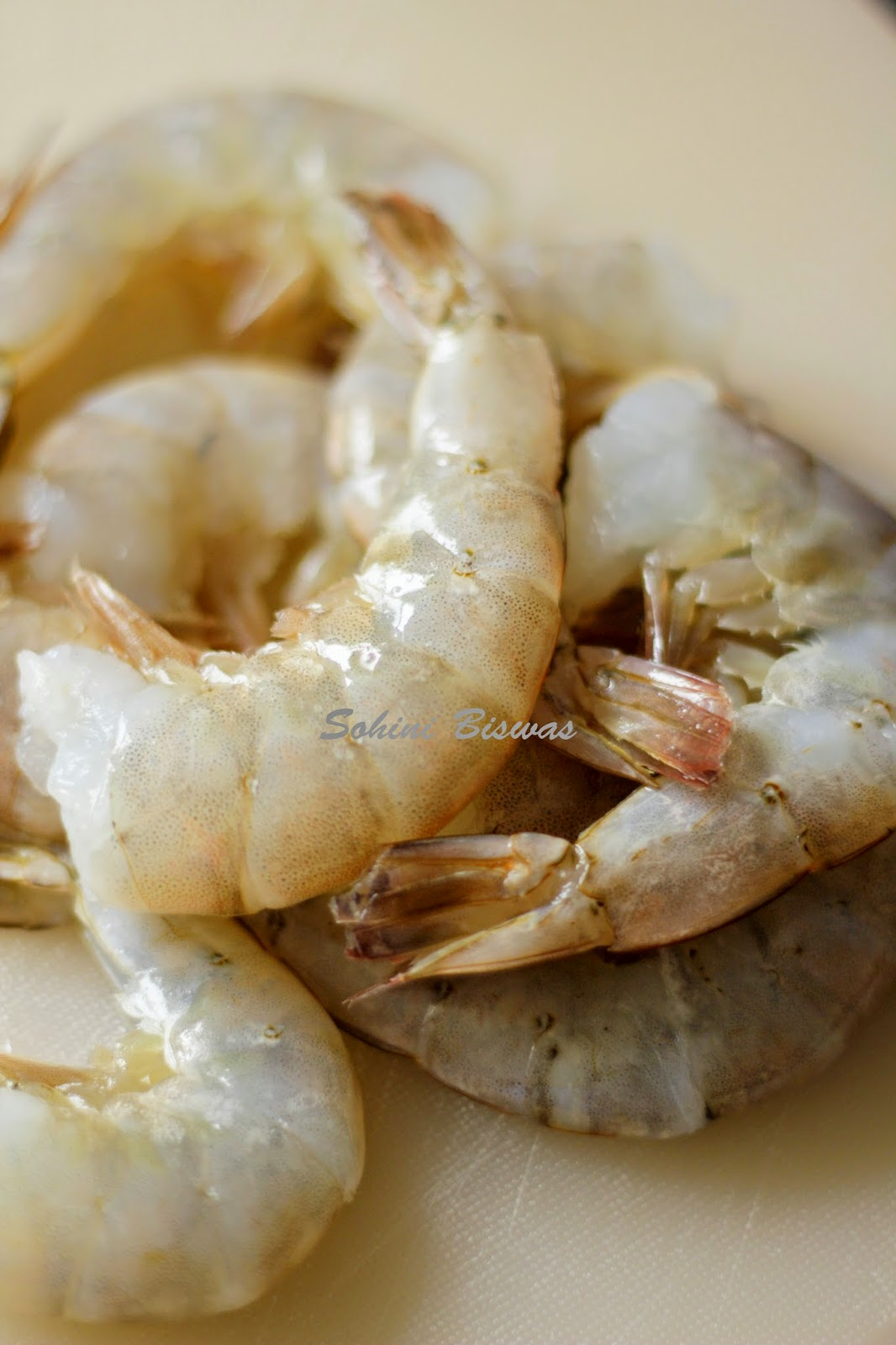 ... or Steamed King Prawns in a mustard, poppy seed and coconut paste