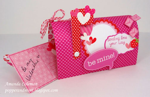 This paper Valentine's Day mailbox is fun and easy to make.   popperandmimi.com