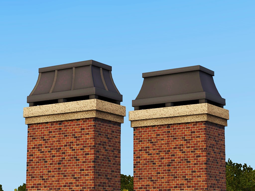 Architectural Chimney Tops : My sims decorative swoop chimney caps by gelina