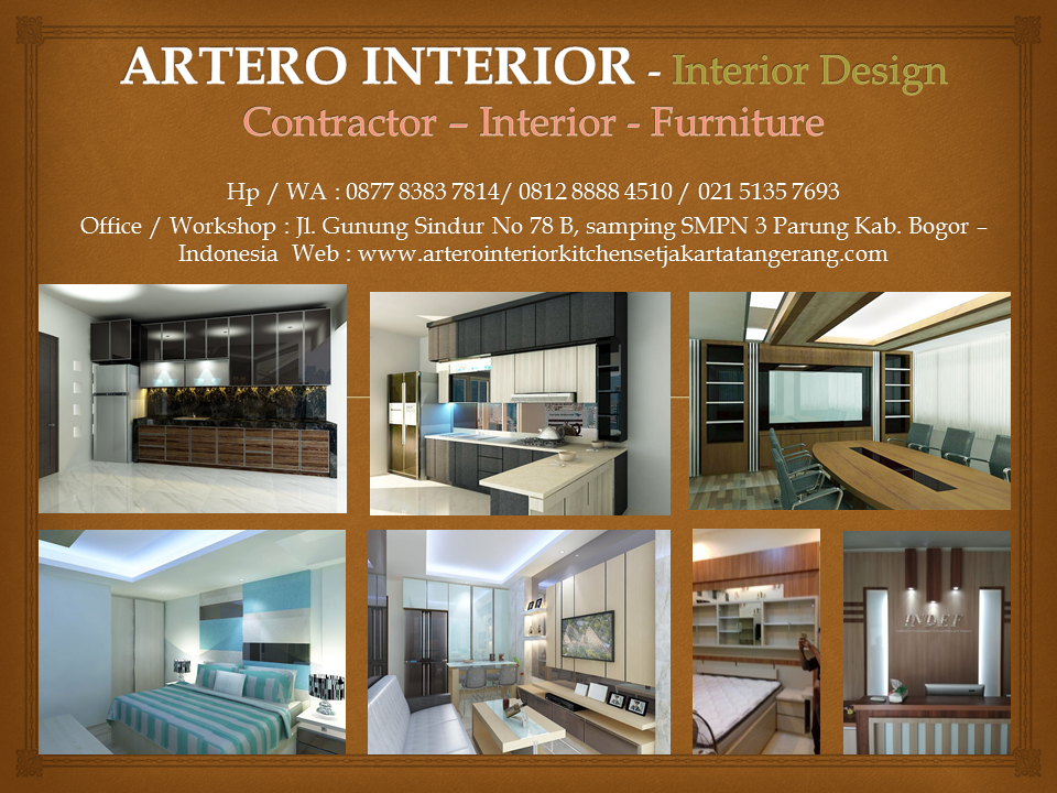 ARTERO INTERIOR - Furniture, Kitchen Set, Lemari Dapur, Lemari Pakaian, Kitchen Set, Wardrobe