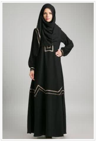 Contoh gambar busana muslim wanita terbaru modis