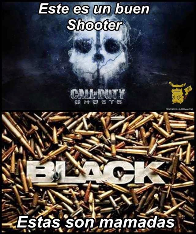 Sarcasmo: COD Ghosts vs Black