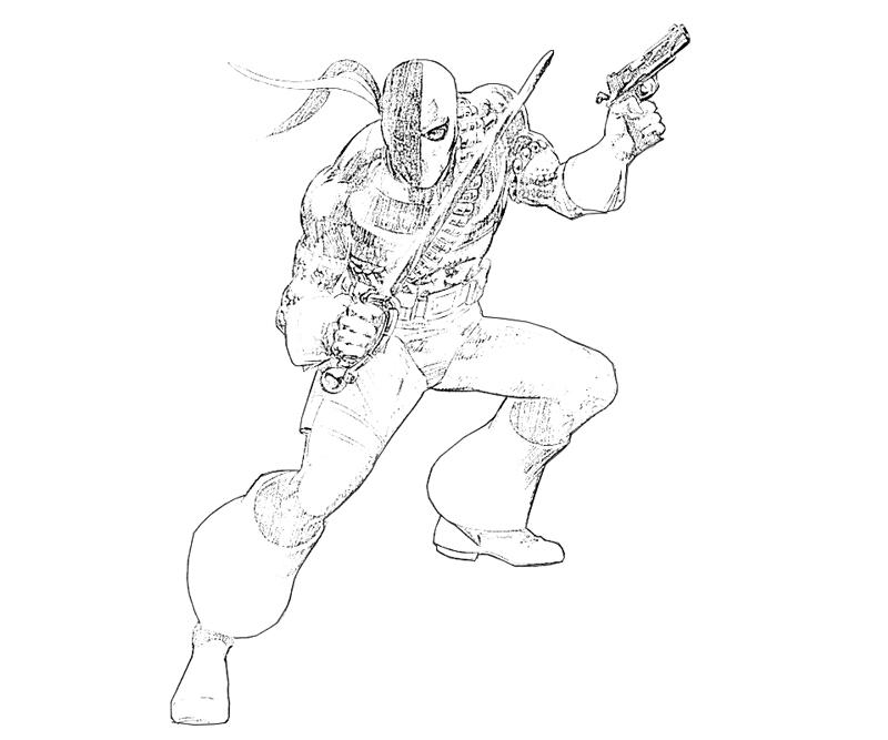 coloring pages of deathstroke injustice - photo#19