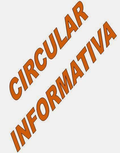 CIRCULAR INFORMATIVA INICIO DE CURSO