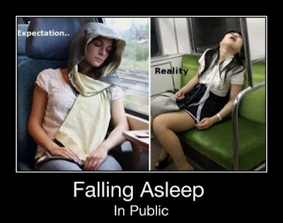 Sleeping in Public funny picture