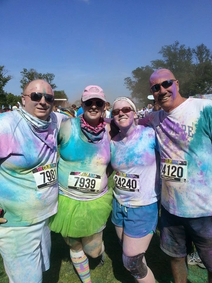Group after the color run
