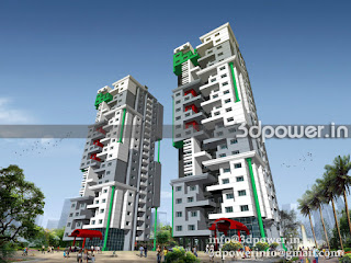High-rise Building 3D Design Rendering