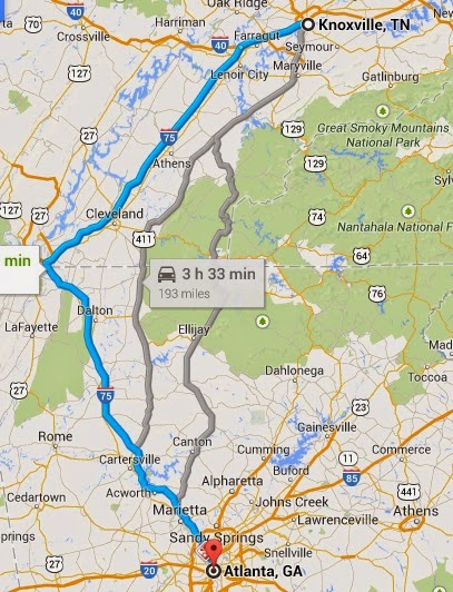 The First Class Project Trip Report Road Trip To The South TN - Map of us hwy 129