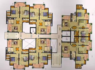 Livingston :: Floor Plans,Block F:-2 BHK (Type F)2 Bedroom, 2 Toilet, Kitchen, Dining, Drawing, 2 Balconies Super Area - 1050 Sq Ft