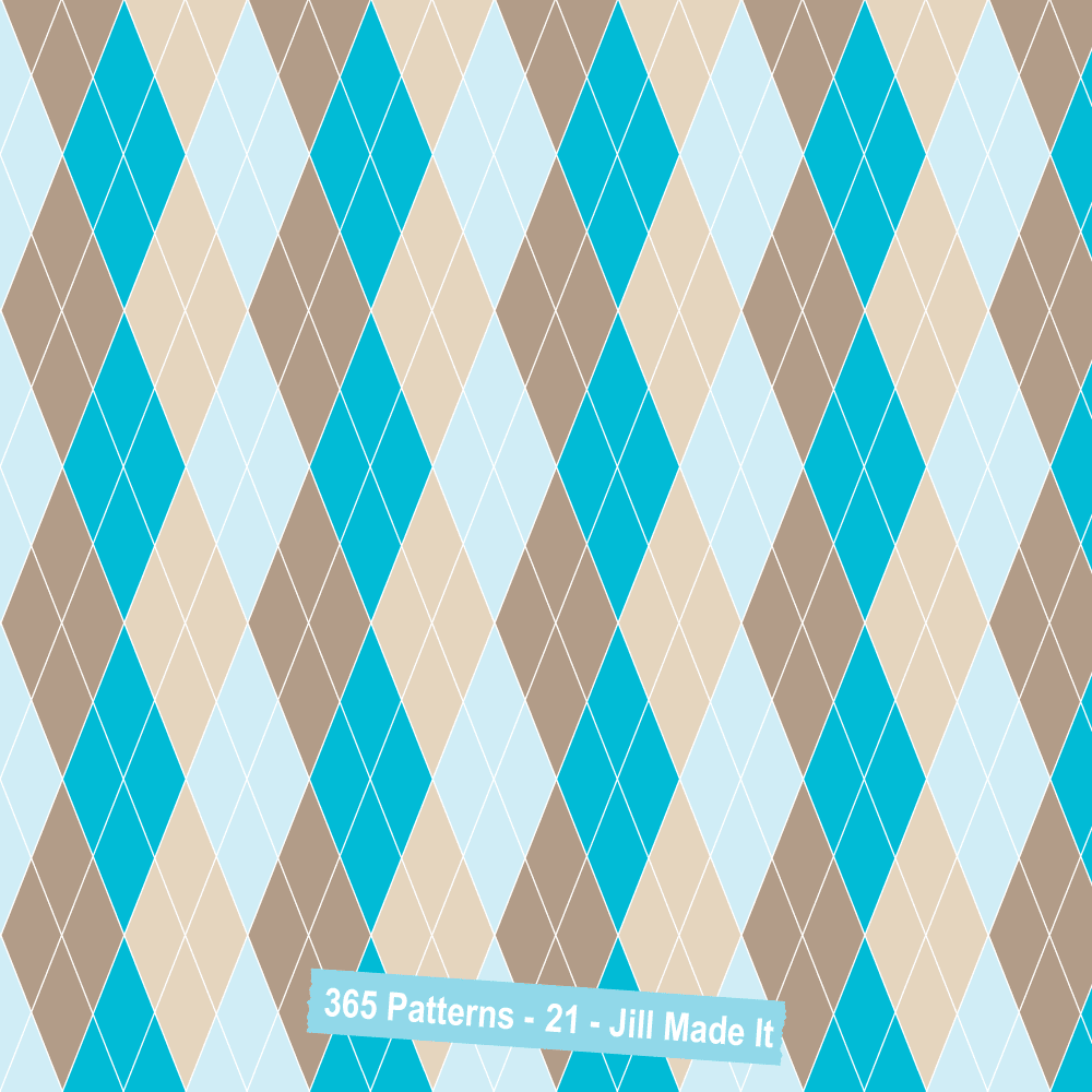 365 Patterns:  Beachy Argyle