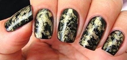 Nail art: Unhas efeito asa de borboleta