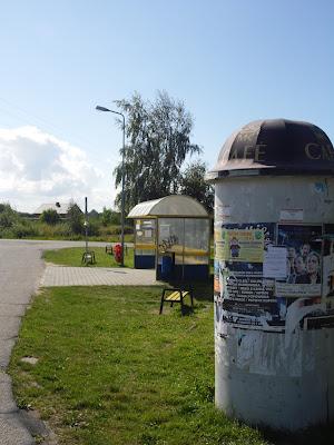 Przystanek minibusów w Gąskach (Gmina Mielno)