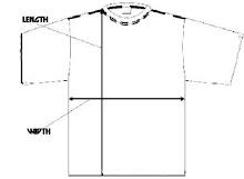 contoh ukuran baju