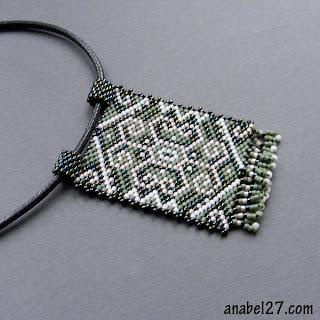 купить кулон украшение из бисера в этническом стиле подарок девушке
