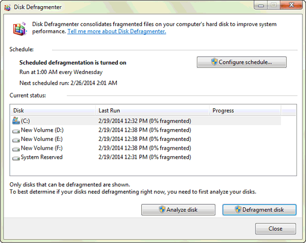 disk defragmenter for windows optimization