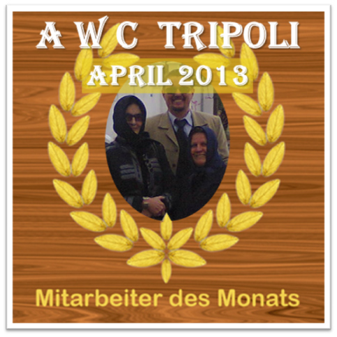 WD in Tripolis: Mitarbeiter des Monats