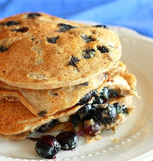 Lemon Drop: Blueberry Buttermilk Pancakes for One