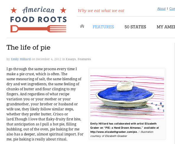 The Life of Pie on American Food Roots by Emily Hilliard