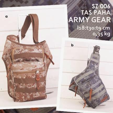 jual online tas paha murah bahan kanvas motif army loreng