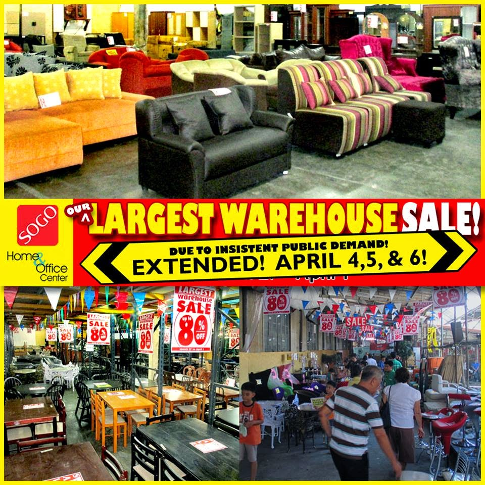 Manila shopper sogo warehouse sale mar 27 apr 1 2014 for Cheap home furniture manila