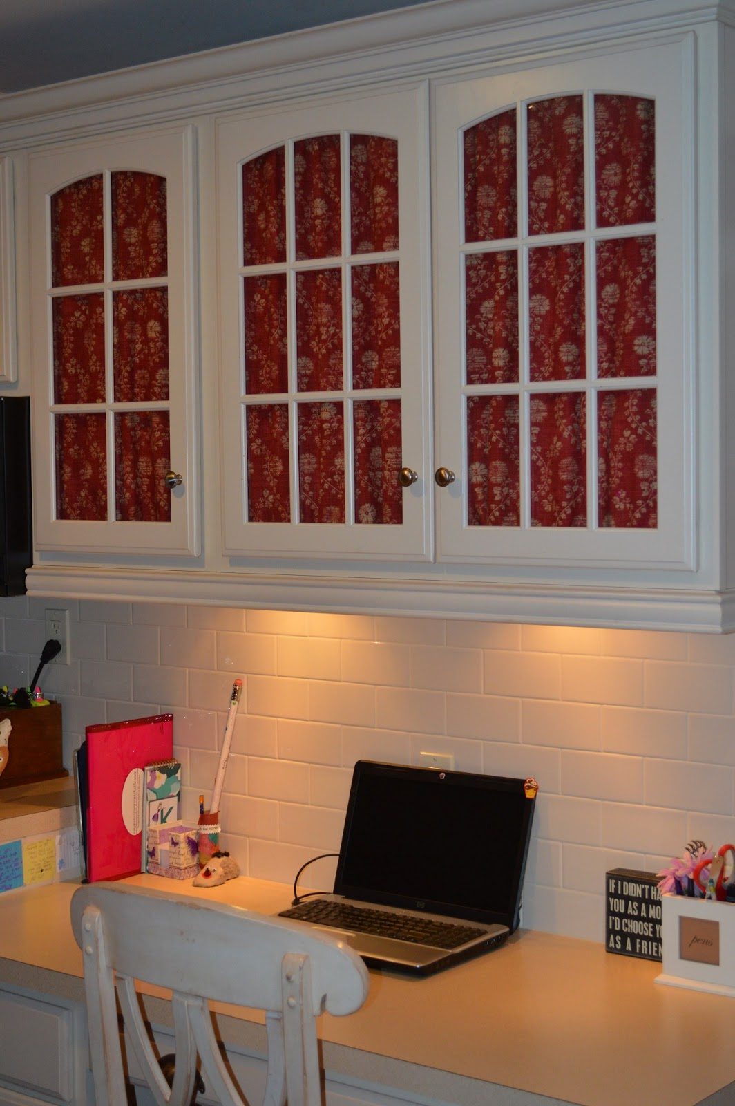 Decorating Cheats~ Adding Fabric To Glass Doors  Exquisitely ...