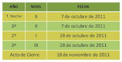 <em>Cronograma 2011</em>