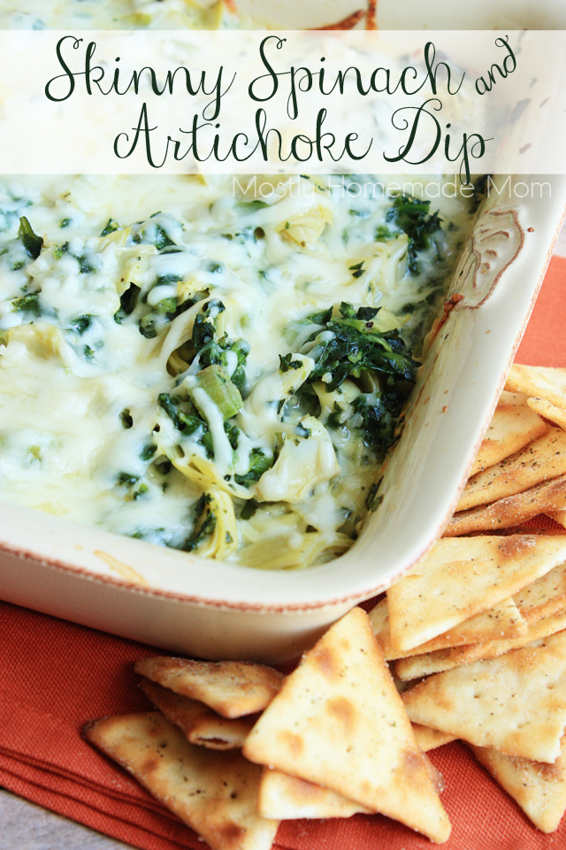 Skinny Spinach and Artichoke Dip | Mostly Homemade Mom