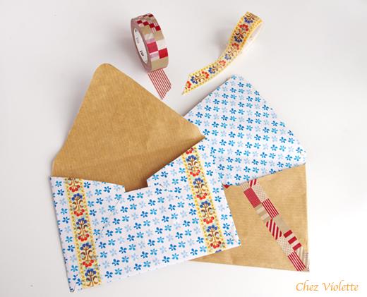 Masking tape enveloppe DIY Chez Violette