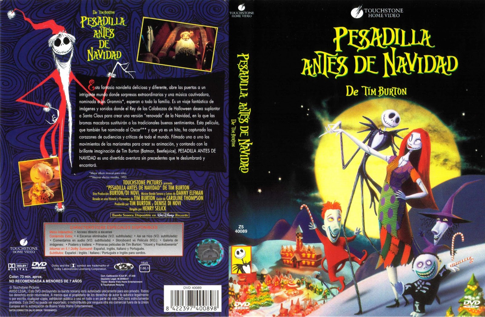 The Nightmare Before Christmas Vhs 2000 - Opening to the nightmare ...