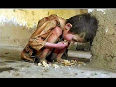 Your life can be someones dream - Poor child eating dirty food