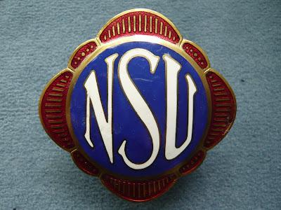 NSU radiator emblem badge vintage prewar