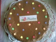 Bolo de Chocolate com cobertura e recheio de chocolate