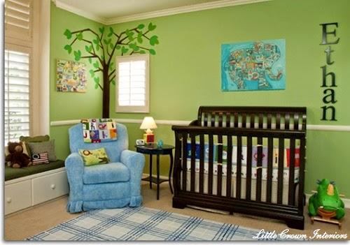 Chambre Bebe Garçon Bleu Et Vert : Déco chambre bébé garçon bleu et vert décoration