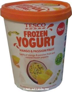 Tesco Frozen yogurt mango and passion fruit tub