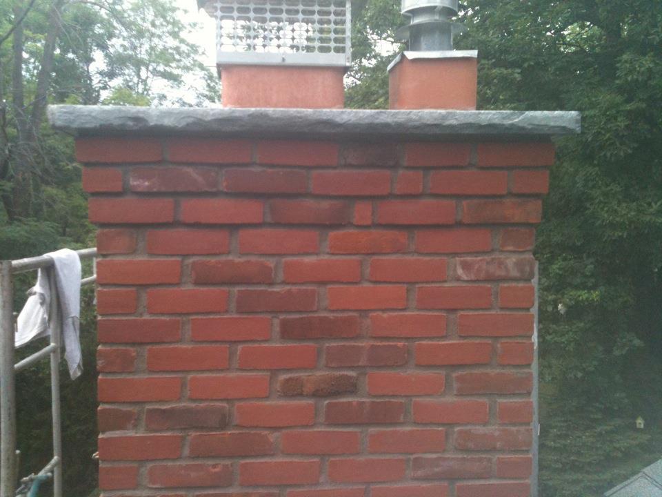 Hayner Masonry Brick Chimney Restoration Before And After