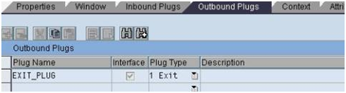 Exit plug in Web Dynpro