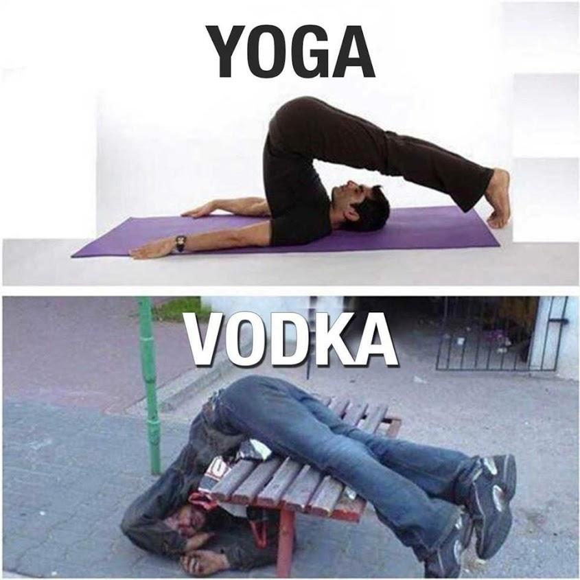 Trust Me You Can Do Yoga Funny Drunk Vodka Talking