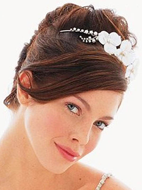 wedding updos with hair accessories