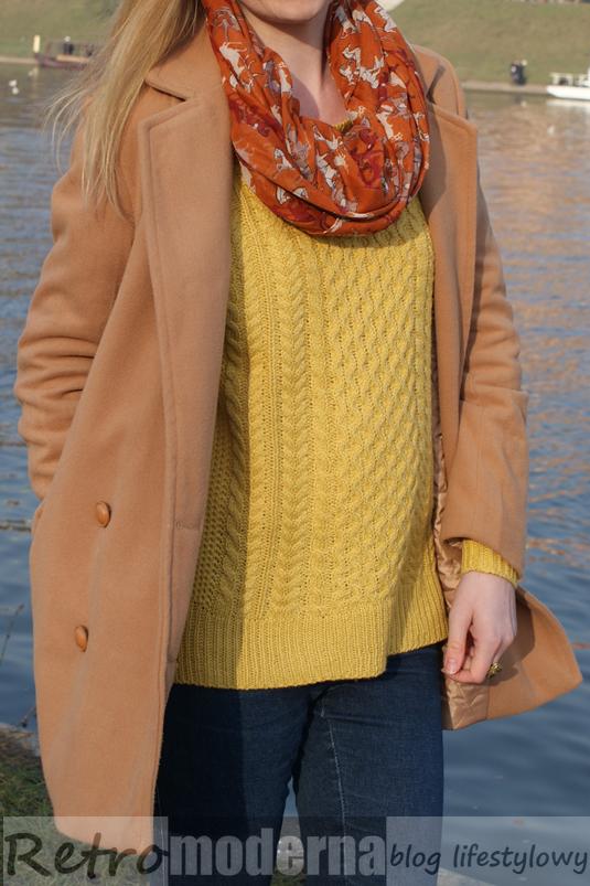 sheinside_coat_Khaki Lapel Double Breasted Woolen