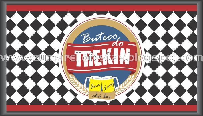 Zumarello Festas Chá Bar  Boteco do Trekin -> Cartaz Banheiro Feminino