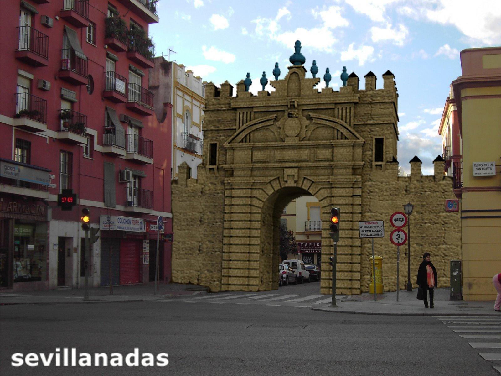 Sevilla desaparecida sevillanadas sevilla en estampas - Puerta de sevilla carmona ...