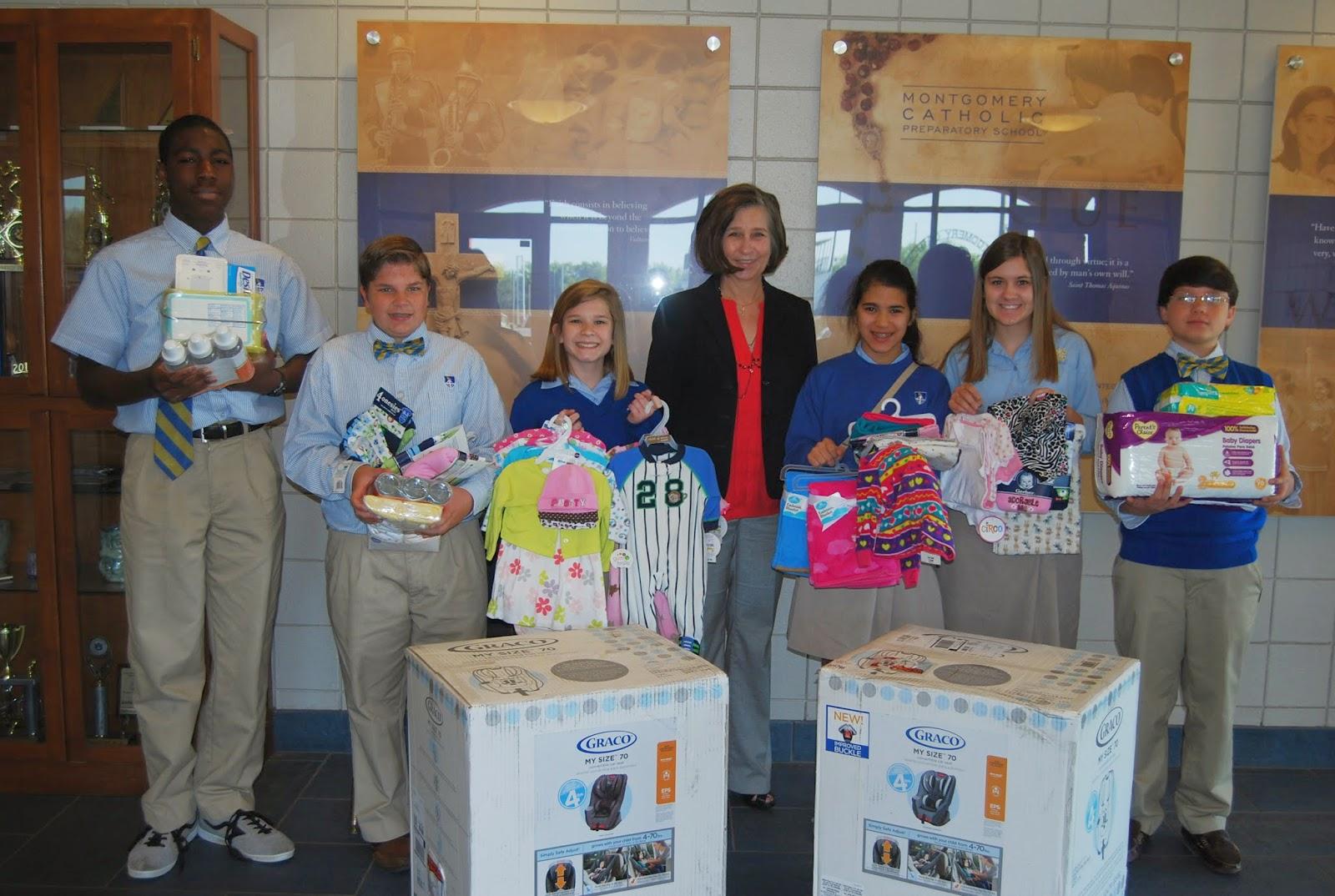 Montgomery Catholic Middle School Makes Generous Donation to COPE 1