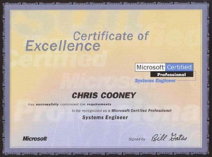 The World of Technology Prefers MCSE Certification