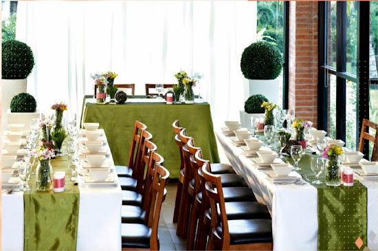 Enchanting Romance wedding motif at Max's Restaurant
