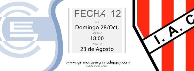 Fecha 12: Gimnasia de Jujuy vs. Instituto Córdoba
