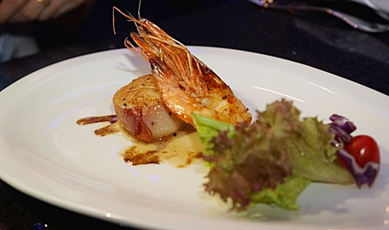 Seared Hokkaido King Scallop, King Prawn, Prosciutto Jacket, iMiirage @ Ipoh SoHo, iMiirage, Ipoh soho, ipoh, soho, World's 1st Ambience Dining Experience