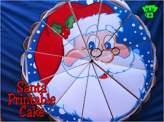 Santa Cake Box Free Printable by Kims Kandy Kreations