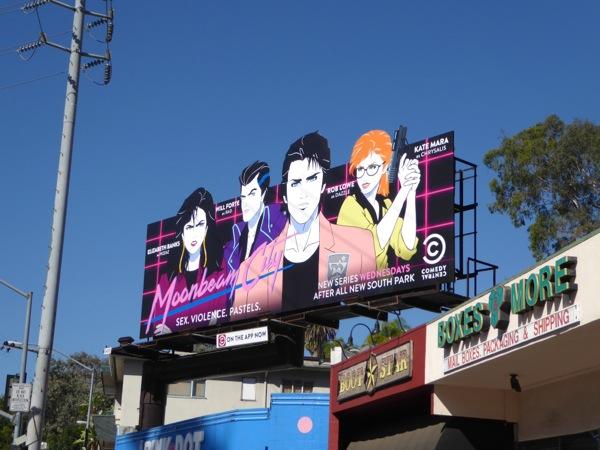 Moonbeam City series launch billboard
